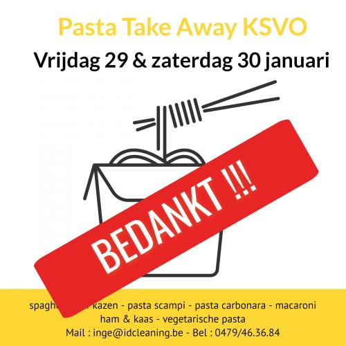 PASTA TAKE AWAY WAS EEN SCHOT IN DE ROOS !!