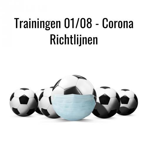 Trainingen 01/08 - Corona