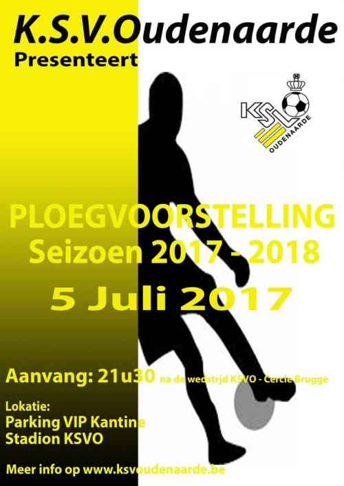 Ploegvoorstelling fanion-team KSV Oudenaarde